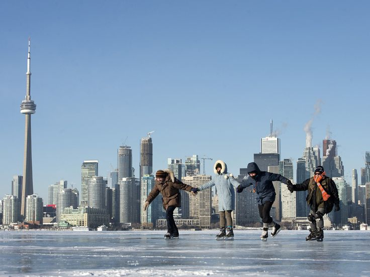 When temperatures plummet these Toronto Island residents lace up their skates and glide across LakeOntario