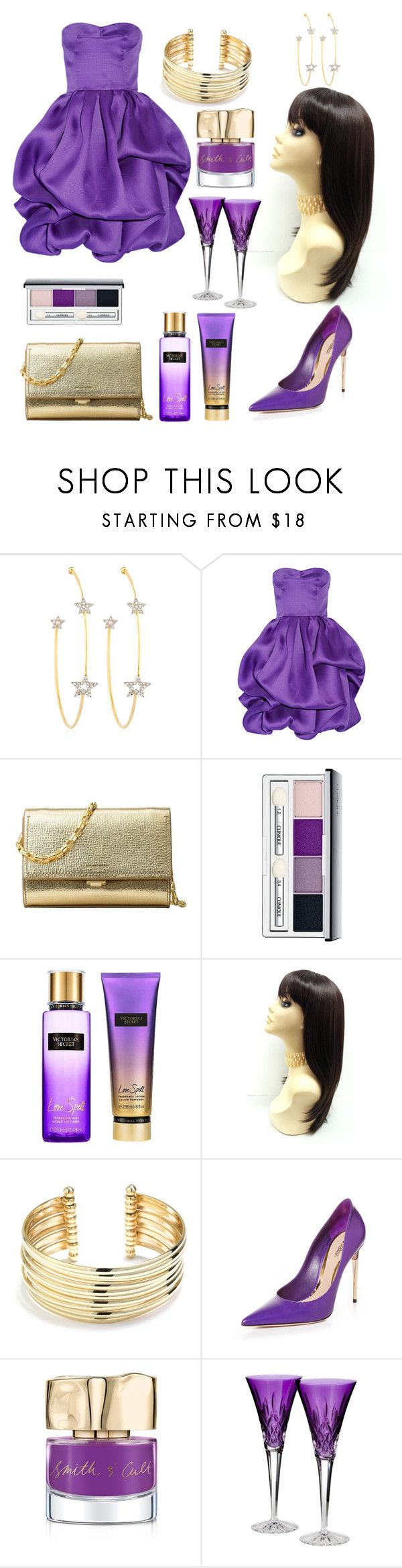 """Royalty"" by brianna-goodwin ❤ liked on Polyvore featuring PERLOTA, Oscar de la Renta, MICHAEL Michael Kors, Clinique, Victoria's Secret, Belk Silverworks, Sebastian Professional, Smith & Cult and Waterford"