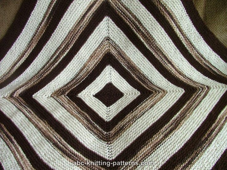 ABC Knitting Patterns - Square Stripes Garter Stitch Baby Blanket