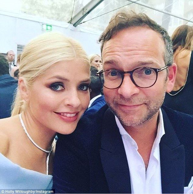 Smitten: Holly Willoughby shared a cute selfie with her husband Dan Baldwin at the 2016 Glamour Women of the Year Awards at London's Berkeley Square Gardens on Tuesday night