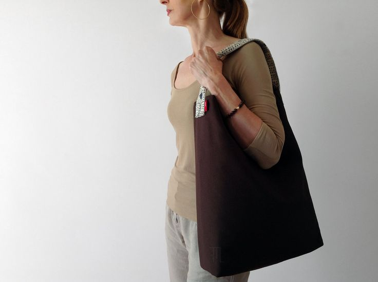 #Ooak #hobo #bag  in #cocoa #brown #cotton #fabric and #strap in #vintage #linenblendfabric  goo.gl/upNAmS  #madeinItaly  by #fmldesign #OneOfAKind #handmade #bucketbag #ホーボーバッグ #artisan #designer #hobobag #bag #summerbag