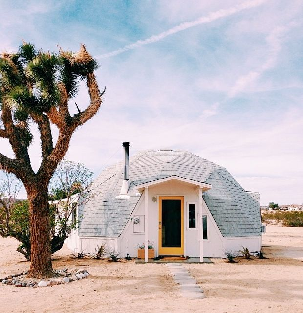 Dome house in Joshua Tree
