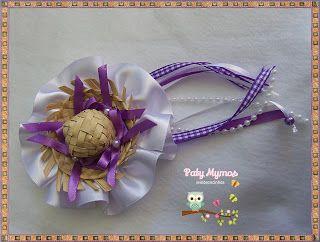 Paty Mymos Lembrancinhas: Arranjo de Cabelo Tema Festa Junina ou Fazendinha