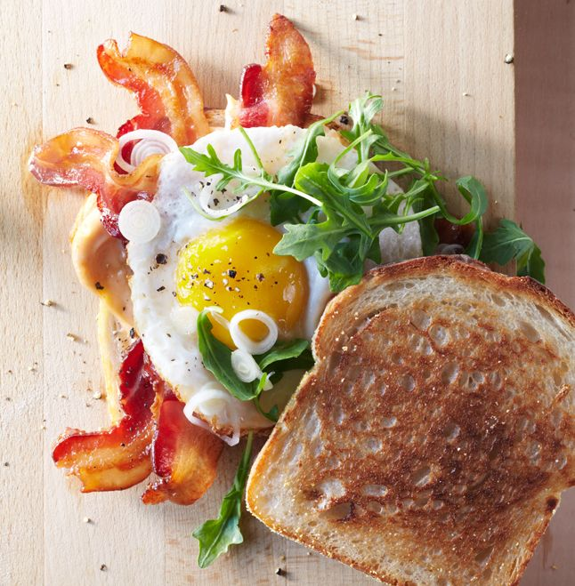 Bacon and Egg Sandwiches with Pickled Spring Onions from Noble Sandwich Co. in Austin, TX, via Bon Appetit