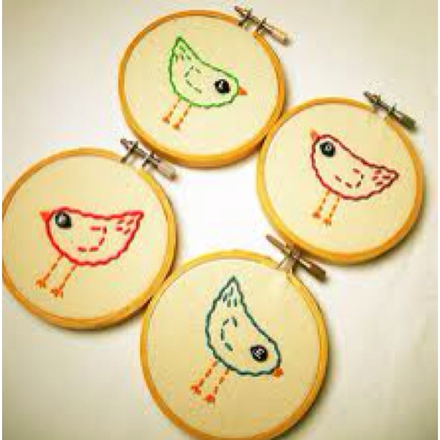 Birdie embroidery