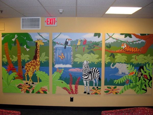 13 best knowledge explorer preschool mural images on for Jungle theme kids room