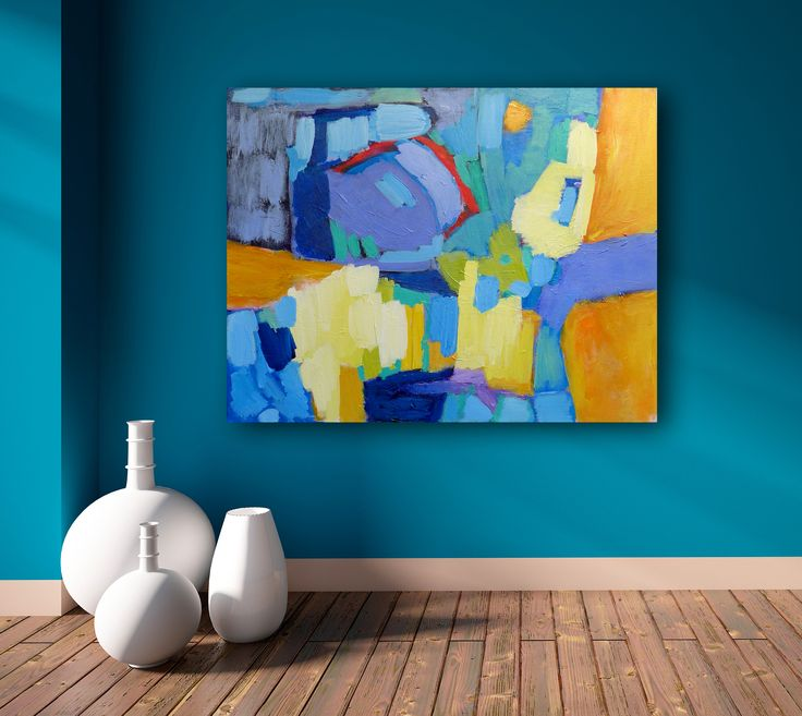 FineArtSeen - View Shine by Valerie Erichsen Thomson. A colourful modern abstract painting. Browse more art for sale at great prices. New art added daily. Buy original art direct from international artists. Shop now