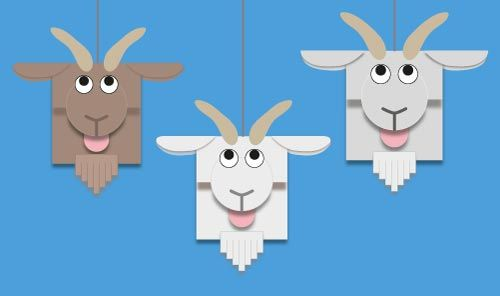 To celebrate the Year of the Goat, use our free printable template to make a goat mobile. #chinesenewyear