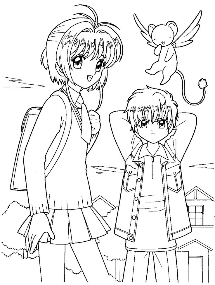coloring pages cardcaptors - photo#11