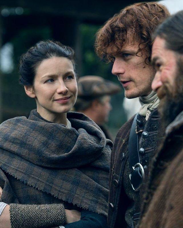 Jamie, Claire y Murtagh  #JamieFraser  #ClaireFraser  #JamieClaire  #MurtaghFitzgibbons  #Outlander  #OutlanderSeason2
