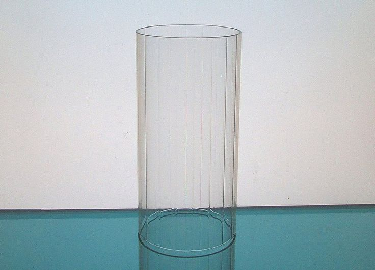 Hurricane Shade Sleeve Cylinder Clear 6 5 X 3 Paneled