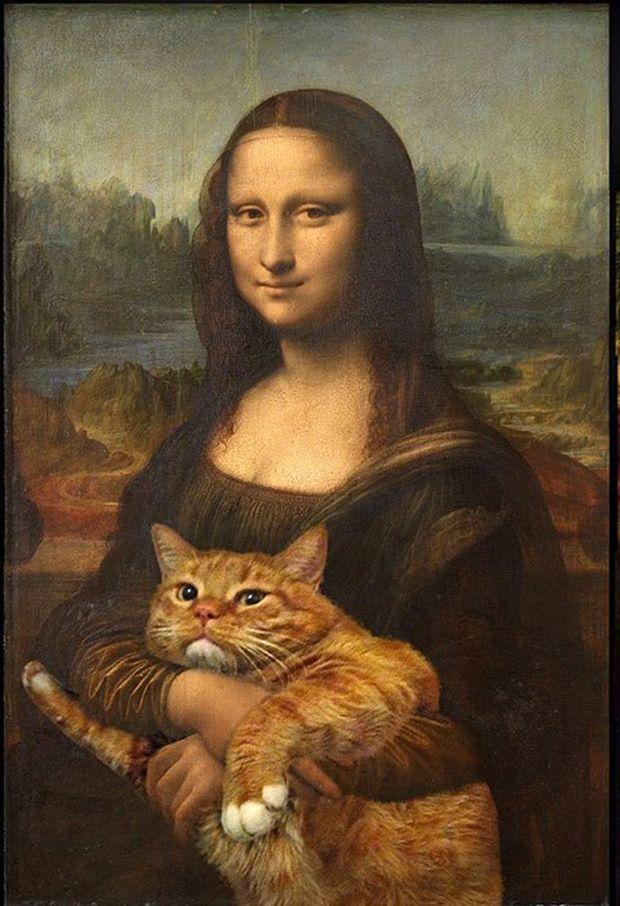 'Fat Cat Art' é a série da artista russa Svetlana Petrova, que faz montagens com o seu animalzinho de estimação, Zaratustra, colocando-o em cena de várias obras de arte famosas e pinturas clássicas.