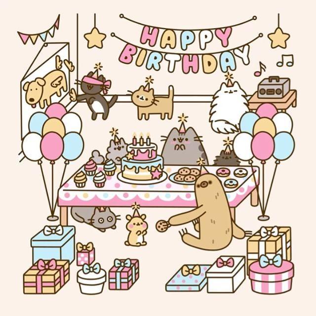 """49k Likes, 1,866 Comments - Pusheen (@pusheen) on Instagram: """"Happy Birthday Pusheen! """""""