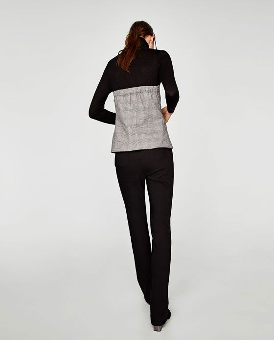 Image 4 of CHECKED CORSET TOP from Zara