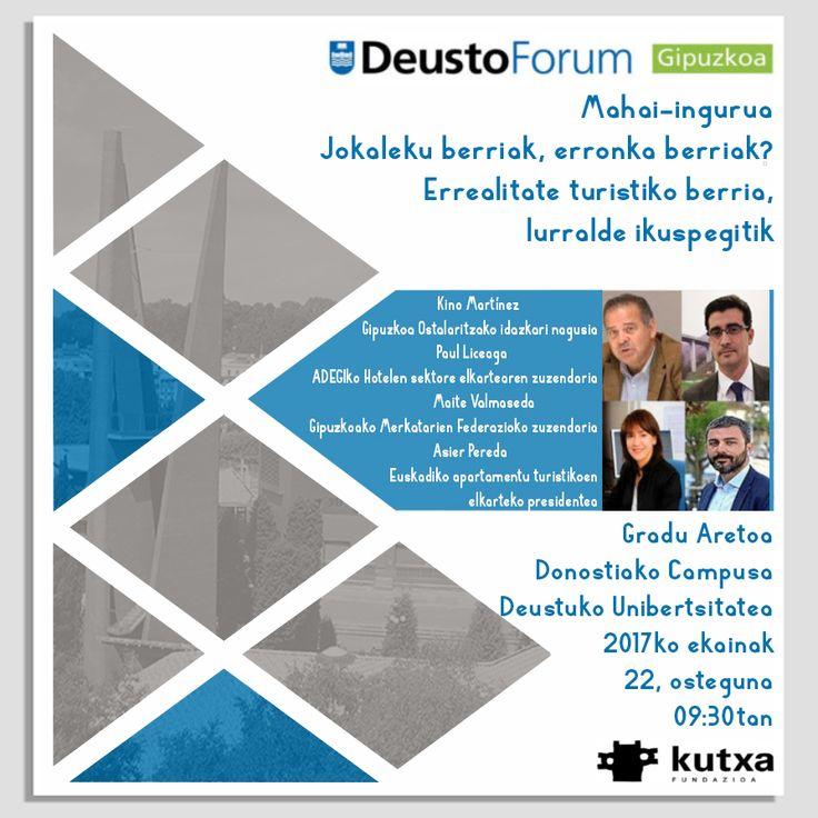 Universidad de Deusto Donostia-San Sebastián-ek Denis Itxasok irekiko duen mahai ingurura gonbidatzen zaituzte. Informazio gehiago gure web orrian