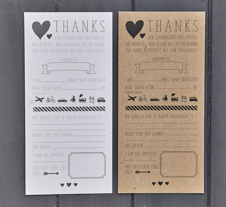 A quirky marriage advice card that is sure to make you smile when you look back at them. Great alternative to a guest book.Our advice card is available in either off white or kraft card. You can let us know which you would prefer via the drop down box when placing an order.Our advice card is a fun and quirky way of getting your guests involved in your wedding day as well as giving you wonderful memories of your wedding day from your guests perspective. These cards will look great on your…