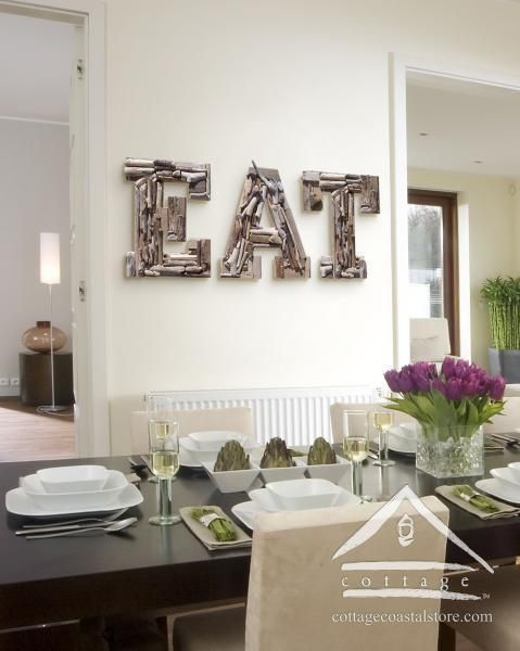 Letters Beach Stones Driftwood Style Kitchens Ideas