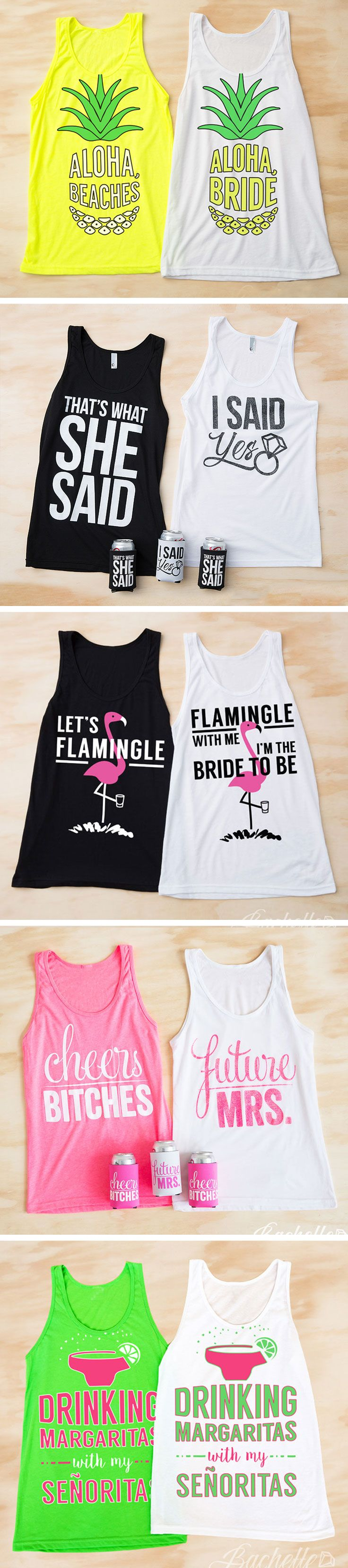 The CUTEST and funniest bachelorette party shirts for your bachelorette party…