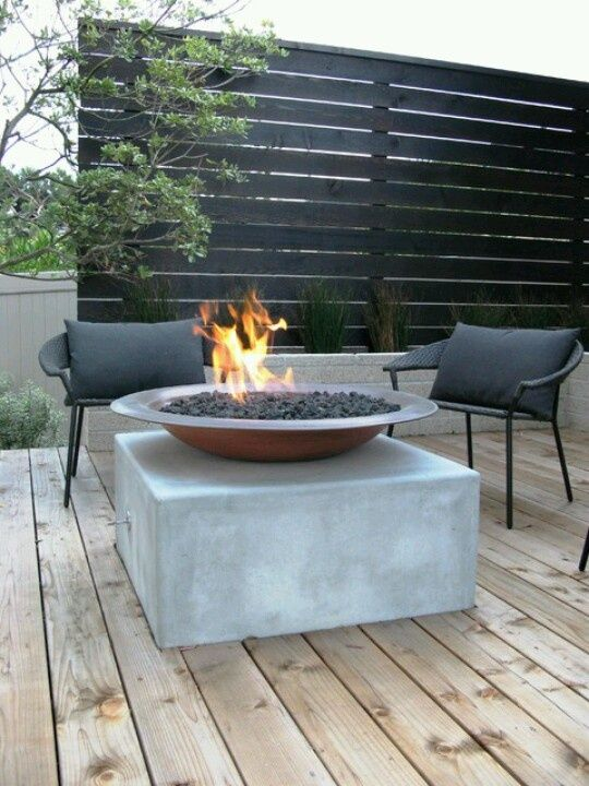 Patio firepit. We could have parties, Kim ad Brit!