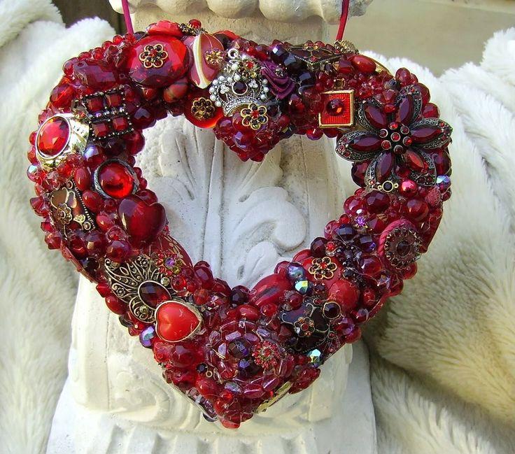 сердце из бисера, бусин
