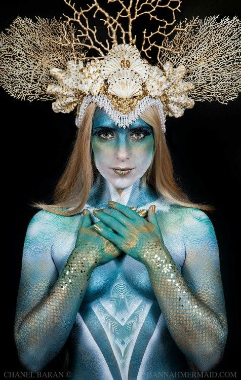 Mermaid body paint