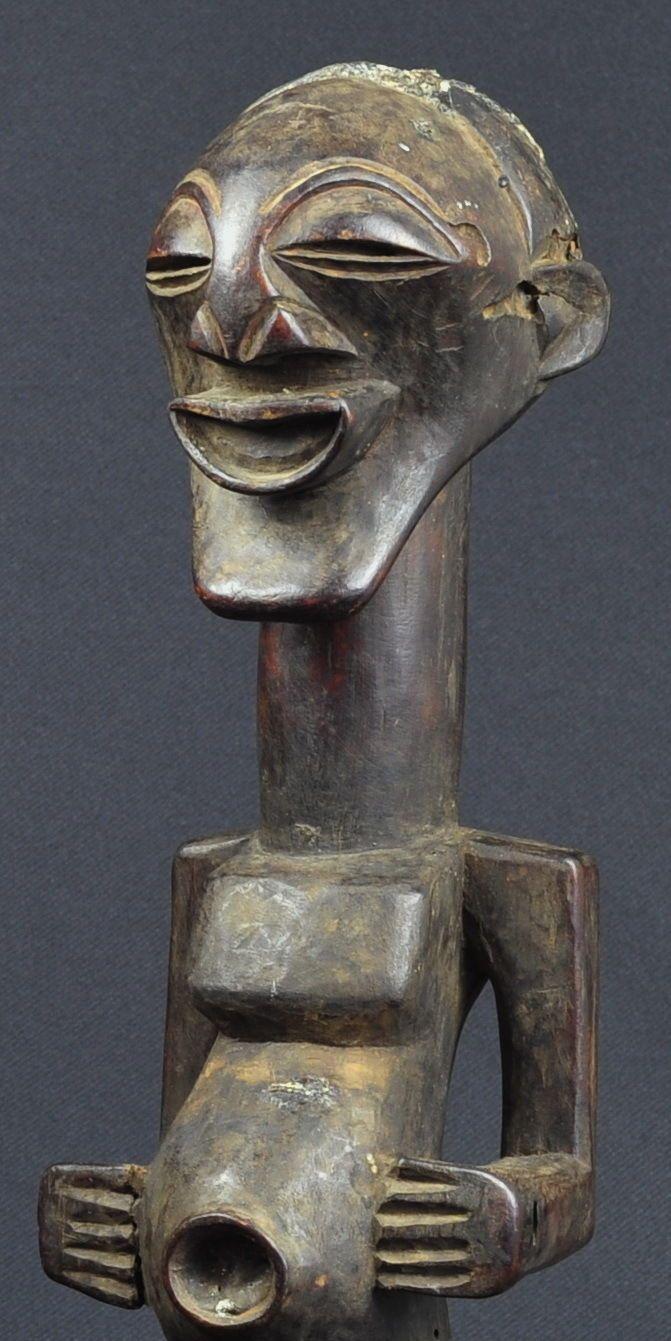 Art fairs mechanical movement metal paris russia sculptures wood - F Tiche Songye Nkisi Congo Fetish Power Figure Africain African Statue Sculpture Ebay