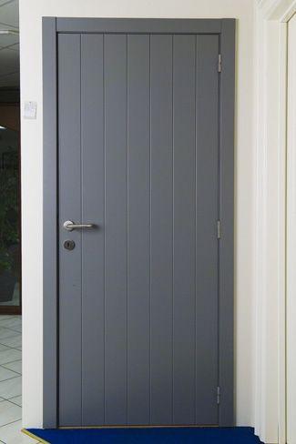 painted plank interior door