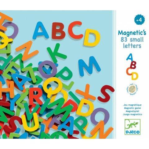 83 magnetiska bokstäver - versaler