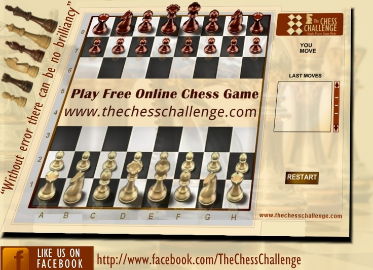Welcome to www.thechesschallenge.com The Chess Challenge is online free chess game with a unique single player game against computer and multiplayer game mode. So Play Share & Enjoy The Chess Challenge