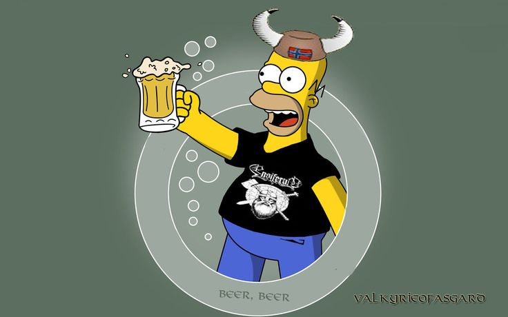 Hommer And Beer by valkyrieofasgard.deviantart.com on @deviantART