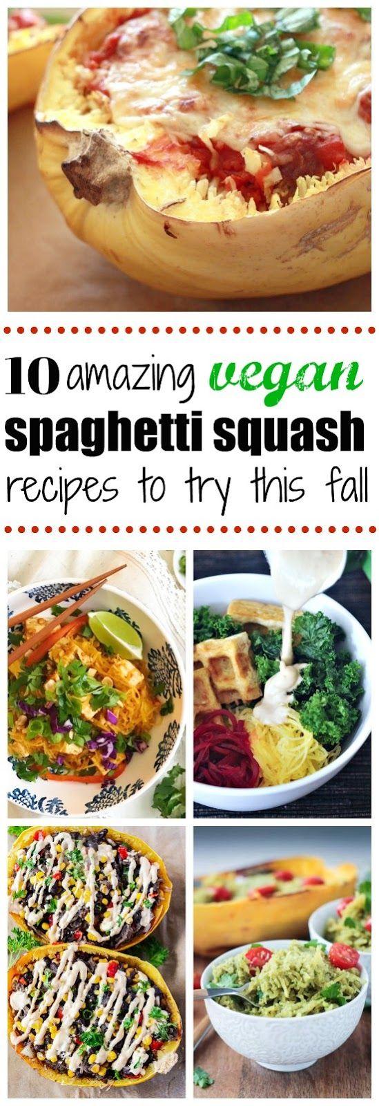 """Delicious vegan spaghetti squash recipes for spaghetti squash Pad Thai to vegan spaghetti squash and """"meatballs"""""""
