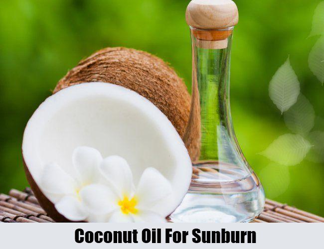 Coconut Oil For Sunburn
