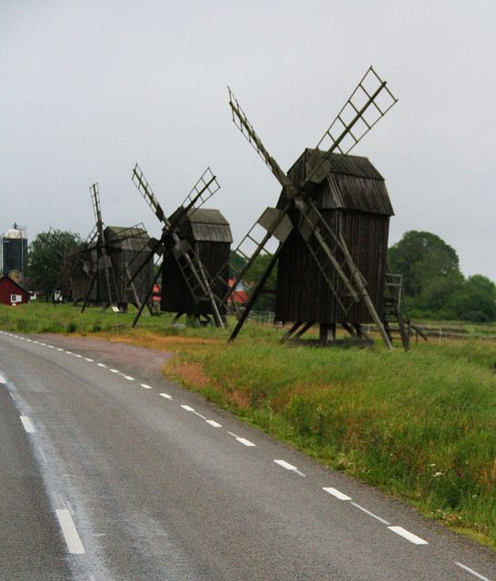 Not your Dutch style windmill. They look kind of scary, or like they wouldn't turn.
