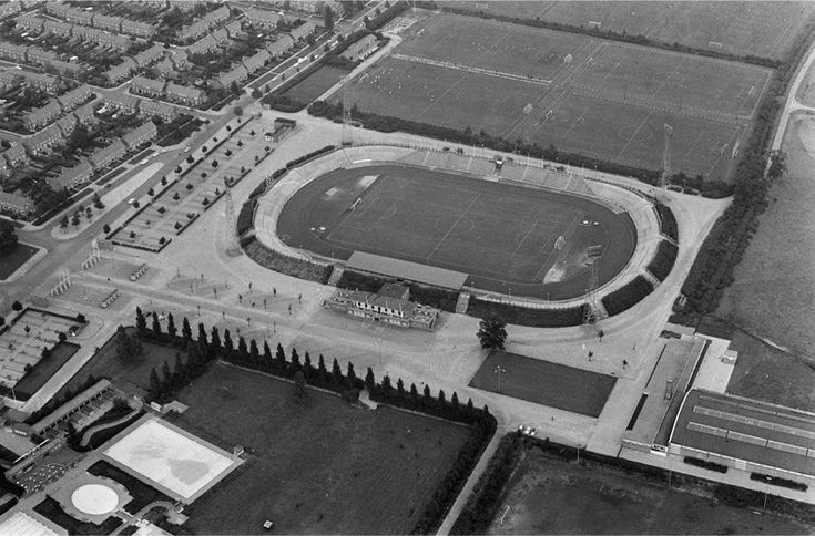 From the old days: the FC Twente Diekman Stadium.