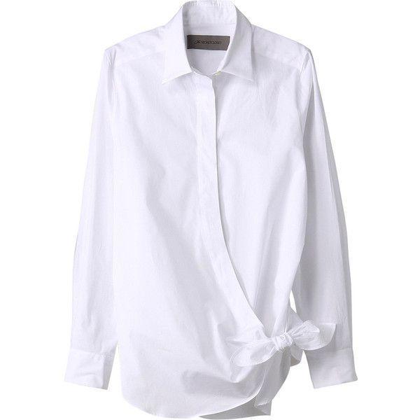 【ELLE SHOP】ブロードシャツホワイト ザ シークレットクロゼット(The SECRETCLOSET) ファッション通販 エル・ショップ found on Polyvore