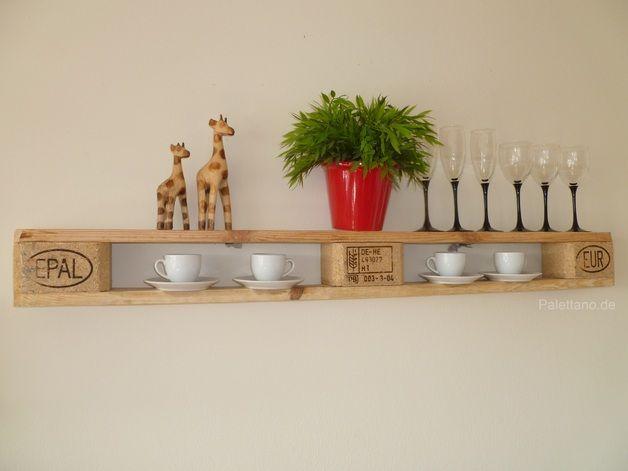 Küchenregale - Wandregal aus Euro Paletten * Shabby Unikat - ein Designerstück von Palettano bei DaWanda