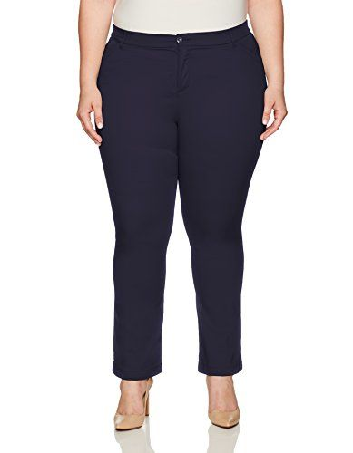 Lee Women's Plus Size Motion Series Total Freedom Pant  Sits just below the waist; straight leg  Eased in the seat and thigh  Featuring a hidden utility pocket and elastic waistband technology  Rise: 13 inches, leg opening: 18.5 inches, n: petite: 29 inches, medium: 31 inches  Product Measurements were taken using size 20W medium. Please note that Measurements may vary by size