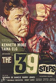 The 39 Steps (1959) starring Kenneth More as Richard Hannay and Tania Elg as Fisher.