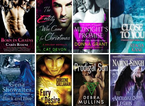 October 2013 Paranormal Romance Novel New Releases Shopping List by Team H & H