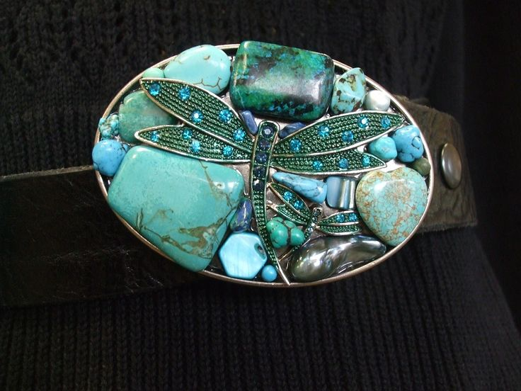 Beautiful Dragonfly belt buckle for snap belts.  Love the bling! Email info@ucao.ca for availability