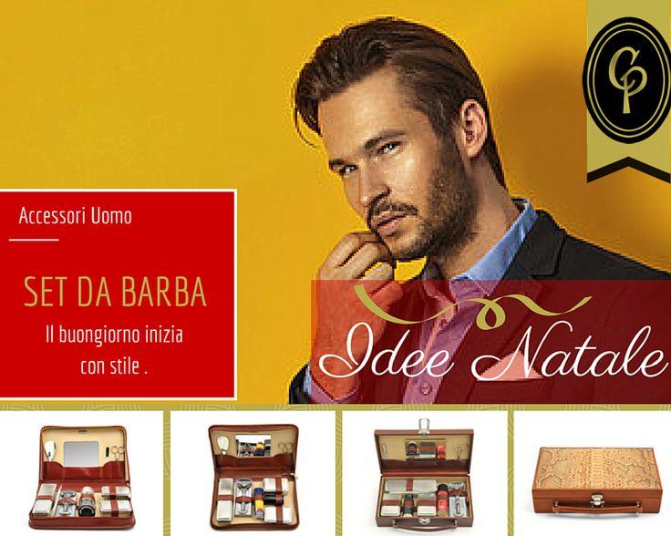 SET DA BARBA: un classico per ogni #gentleman che si rispetti! #Natale #IdeaRegalo #hipster #vintage #uomo #barba #CepiPelletterie
