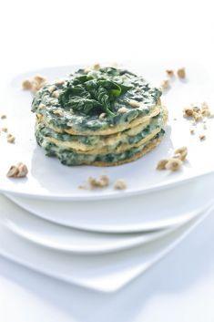 Crespelle di ceci con funghi spinaci e nocciole - Tutte le ricette dalla A alla…