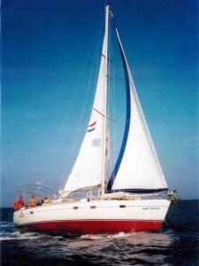 De Satyros in volle glorie. Zeilvakantie Levkas/Ionische zee. 2004.