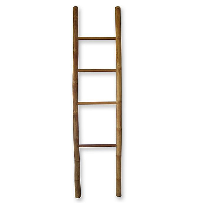 Bamboo Teak Ladder Towel Rack Bed Bath And Beyond Canada Ladder Towel Racks Towel Rack Diy Farmhouse Coffee Table