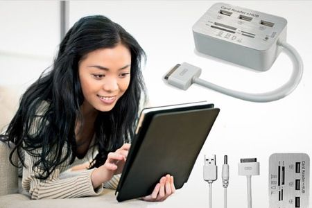 iPad Multiple Card Reader and 3 USB Hub at Rs 599 Only at Groupon