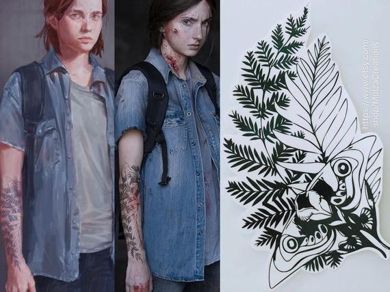 Part II Cosplay Ellie Fake Tattoo Waterproof Temporary The Last of Us
