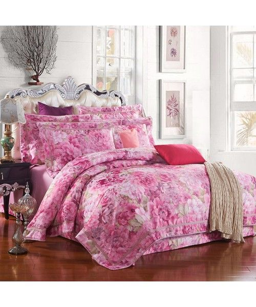 Luxury Egyptian Cotton Jacquard Heat Transfer Printed Bed Set [HBS-13-00182]