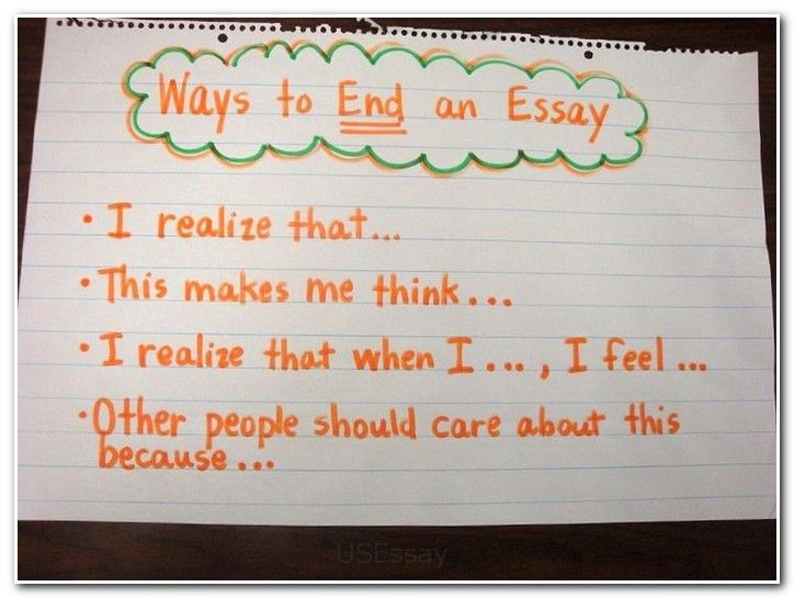 good ending college essay