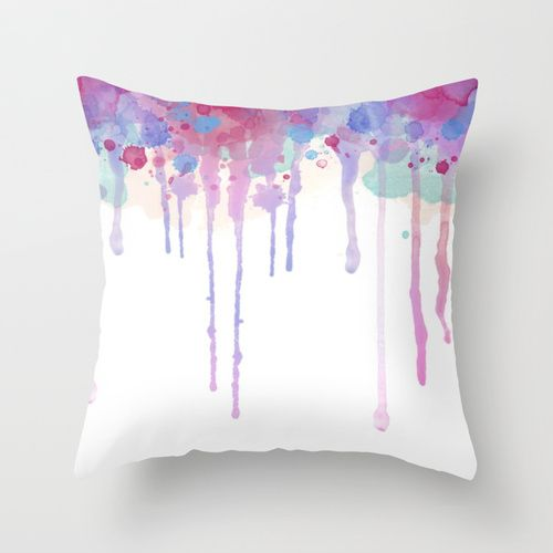 How to do it: 1. Grab your pillow case. 2. Mix some water with acrylic paint. The thinner the paint the lighter the color. Test it on some scrap fabric first 3. Make sure to put a cardboard between the layers of your pillowcase before painting so then the paint doesn't go through both layers. 4. Paint your pillowcase with paintbrushes how you'd like it to look