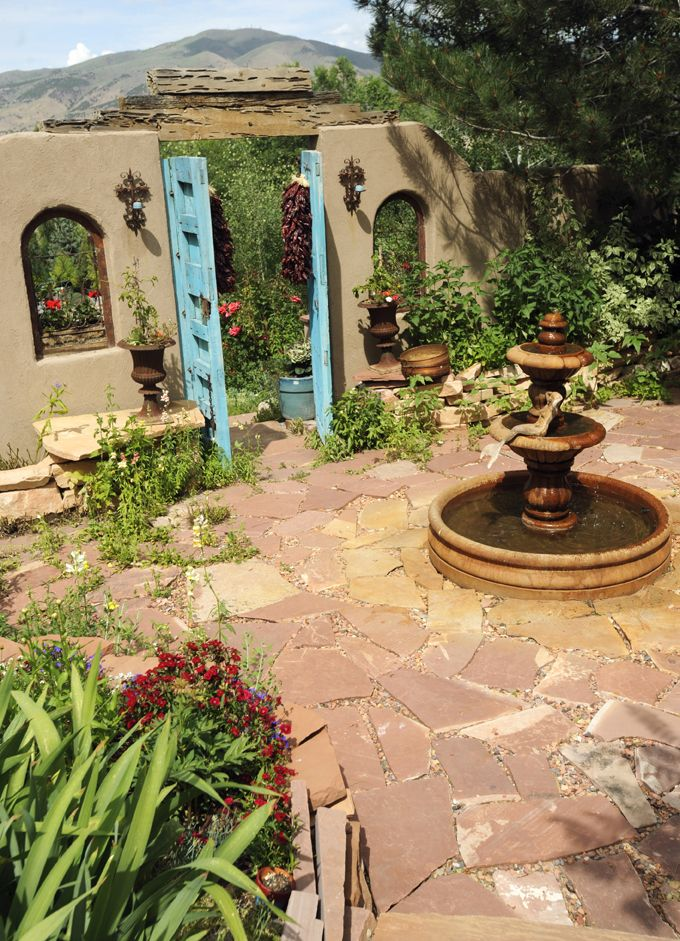 Then, there's Southwestern style.  I could live happily on this patio for the rest of my life!